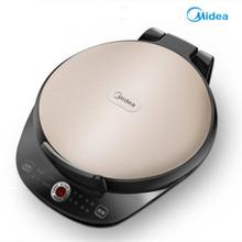 美的正si家用电饼铛ra加热煎锅自动烧烤机煎饼加深煎烤