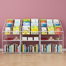 铁秀才儿童书si宝宝绘本架ra报架学生幼儿园图书柜展示架包邮