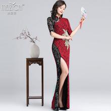 妹姿彩现代古典舞演出服舞蹈练si11服装女sb仪形体旗袍长裙