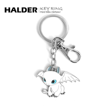 HALsiER 白色sb属 黑色龙情侣男女(小)挂件情的节礼物项链