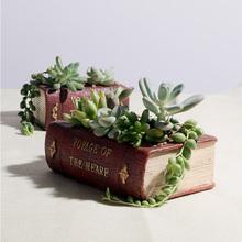 创意复古多肉si3物树脂花ta公室桌面个性盆栽家居装饰品礼物