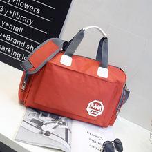 韩款大si量旅行袋手pu包可包行李包女防水旅游包男