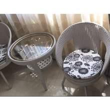 户外阳si休闲转椅(小)pu桌椅组合网红现代简约庭院三件套喝茶桌
