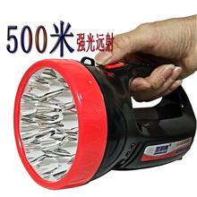 LEDsj电手提灯大hj 强光探照灯聚光远射应急户外登山巡逻包邮
