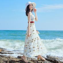 裙子夏sj2020新tq雪纺连衣裙泰国三亚海边度假长裙超仙沙滩裙