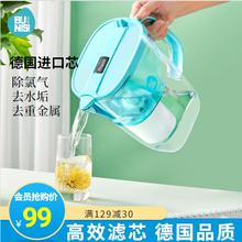 德国布尼sk家用净水壶yw厨房过滤水器便携滤水壶净水杯