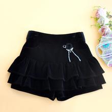 欧美站sl绒短裙半身nc020女装新品蛋糕裙优雅A字式荷叶边蓬蓬裙