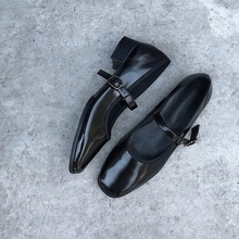 阿Q哥sl 软!软!nw丽珍方头复古芭蕾女鞋软软舒适玛丽珍单鞋