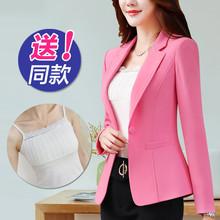 网红(小)sm0装外套女ll021新式韩款OL休闲短式女士西服大码上衣