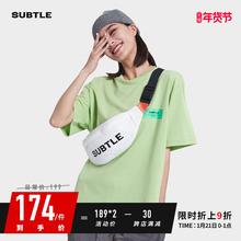 Subsmle FErt斜挎包男潮牌包包休闲腰包女饺子包街头潮流胸包(小)包