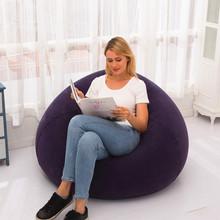 网红卧sm家用单的气sh气野外懒的沙发休闲户外便捷式充气躺椅