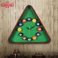 丽盛台球挂钟桌球创意时钟个sm10时尚现le音挂钟石英钟表