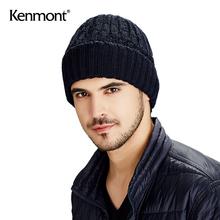 kensmont冬天le户外针织帽加绒双层毛线帽韩款潮套头帽冬帽