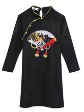 刺绣2sm20女装胖kg的妹妹服饰新年装加肥加大码春装旗袍连衣裙