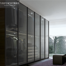灰玻钢化玻璃sm3室整体移kw约缓冲平六开门衣柜衣帽间衣橱