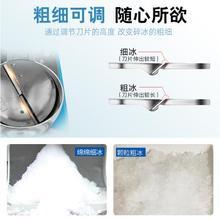 碎冰机sn冰机家用商ak店(小)型电动压冰打冰机双刀制冰沙机