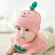 婴儿帽sn女宝宝帽子ak新生儿帽子男童帽可爱套头帽婴幼儿胎帽