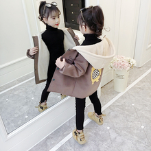童装女sn外套毛呢秋ab020新式韩款洋气冬季加绒加厚呢子大衣潮