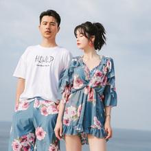 情侣泳so女性感三件ic2020新式海边沙滩情侣装温泉泳装