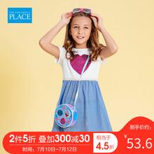 北美绮so堡童装20ic季新式女中童宝宝气质时尚可爱甜美连衣裙