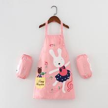 儿童围裙画画罩衣防脏防水