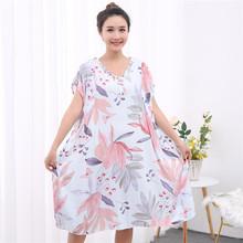 夏加肥so大码胖mmes裙无袖连衣裙薄的造棉绸宽松睡衣200斤300