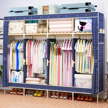 收纳架so木简约现代ic衣橱双的出租房卧室经济型柜子
