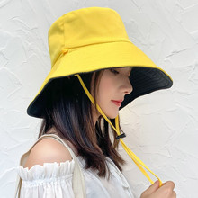 渔夫帽so遮阳帽大帽ic双面防晒防紫外线沙滩雏菊女士帽子韩款