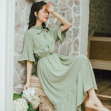 到脚踝so系甜美仙气li系连衣裙女夏2020新式学生长裙仙女裙子