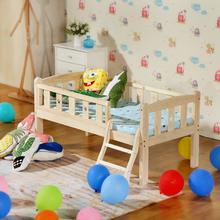宝宝床so护栏单的(小)ha男孩(小)床女孩公主婴儿加宽床拼接床大床