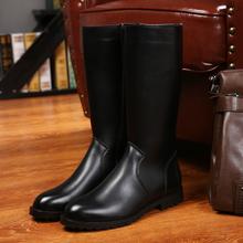 春秋新式内增高男靴子高筒骑马靴so12靴男皮ha流长靴马丁靴