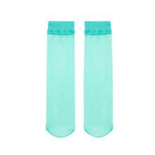 BENso外贸脚尖透nd袜品彩女夏季隐形薄透式水晶丝短袜纯色短筒