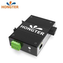HONsoTER 工jo收发器千兆1光1电2电4电导轨式工业以太网交换机