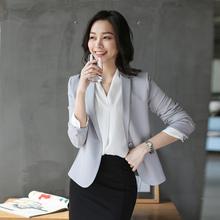 时尚帅sp(小)西装外套ld修身短式休闲OL职业通勤一粒扣2021春秋
