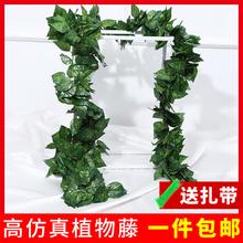仿真葡sp叶树叶子绿rt绿植物水管道缠绕假花藤条藤蔓吊顶装饰