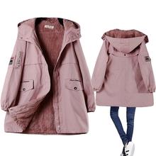 冬季新式韩sp2bf棉衣rt加绒加厚大码宽松连帽棉服外套显瘦