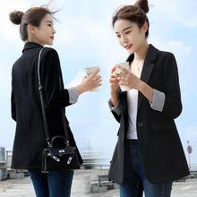 chisq(小)西装外套fh七分袖春秋季新式休闲显瘦西服上衣厚式39
