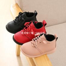 1-2sq3岁女童棉ny婴儿宝宝棉鞋软底女孩公主皮鞋(小)童雪地靴子