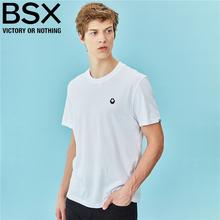 BSXsq牌T恤 男ny刺绣打底衫潮 半袖圆领短袖t恤纯色04097238
