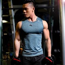 健身服sq紧身背心无nyT恤弹力速干透气跑步坎肩训练健身上衣