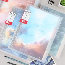 初品/sq河之夜 活bw创意复古韩国唯美星空笔记本文具记事本日记本子B5