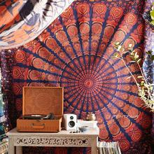 【大号sq选】Penwgir曼达拉手工挂布沙发巾瑜伽毯民宿背景布