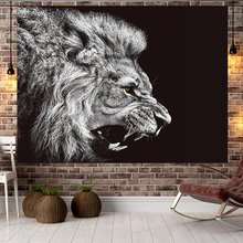 拍照网sq挂毯狮子背wgns挂布 房间学生宿舍布置床头装饰画