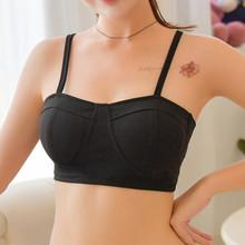 美背舒sr抹胸式文裹az底吊带背心薄式无钢圈运动内衣bra胸罩