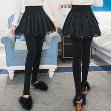 外穿加sr加厚假两件co底裤裙裤女士秋冬显瘦踩脚大摆长裤袜子