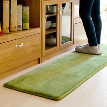 短绒厨sr地垫厕所卫co室垫防滑门厅入户脚垫吸水卧室地毯