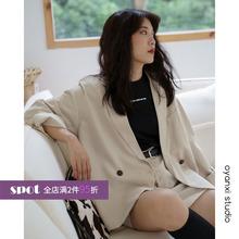 [srsco]宽松西装外套女韩版202