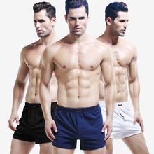 3条装sr宽松透气家tu平角裤舒适宽松家居睡裤阿罗裤