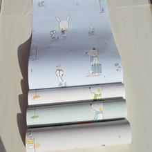 进口无纺布宝宝房动物卡sr8环保壁纸tu卧室公主房满铺墙纸