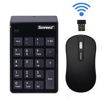 Sunsreed桑瑞tu.4G笔记本无线数字(小)键盘财务会计免切换键鼠套装
